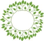 Couronne de feuilles 144x138