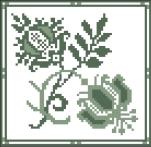 Fleurs à l'ancienne - 69 x 67 points