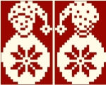 Bonhomme de neige - 43 x 34 points