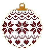 Boule de Noël 1 - 39 x 43 points