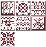 Cube de Noël (ou pas) - chaque face 25 x 25 points