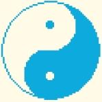 Yin et Yang - 60 x 60 points