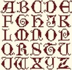 ABC Oncial d'Harriet - chaque lettre 19 points de hauteur