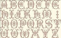 Alphabet Anna Brown - pour chaque lettre, h=23 points