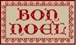 Écrire Noël 1 - 141 x 81 points (23 points par lettre en hauteur)