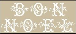 Noël Inspiration Sajou 107 - 148 x 60 points (28 points par lettre en hauteur)