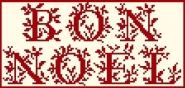 Écrire Noël 3 - 108 x 51 points (24 points par lettre en hauteur)