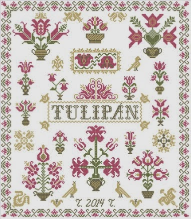 Sampler aux tulipes