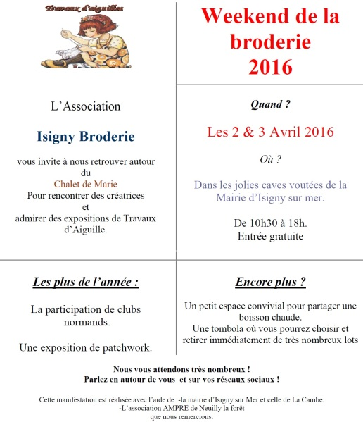 weekend dela broderie